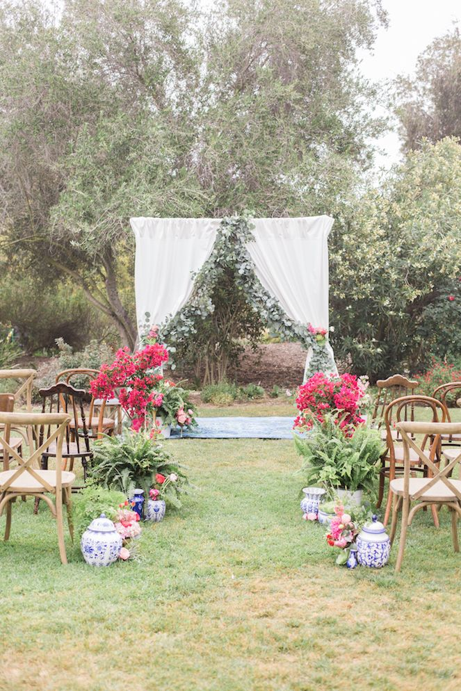 decorating ideas for outside wedding ceremony%0A SoCal Wedding Shoot Infused with FrenchInspired Elements