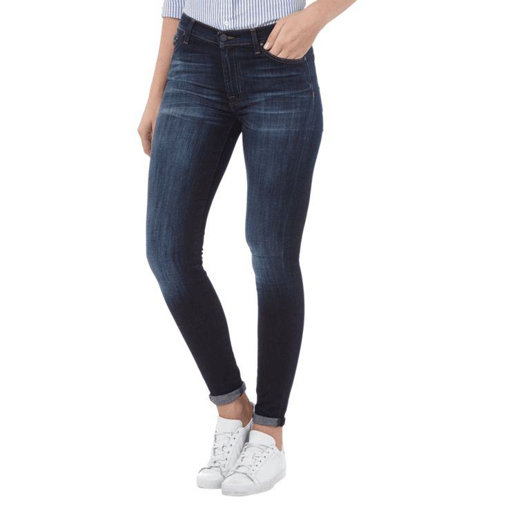 | #7 for #all #mankind #Damen #High #Waist #Jeans im #Skinny #Fit