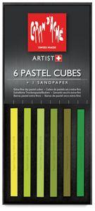Caran d'Ache Pastel Cubes Shade 7, Meadow, Set of 6