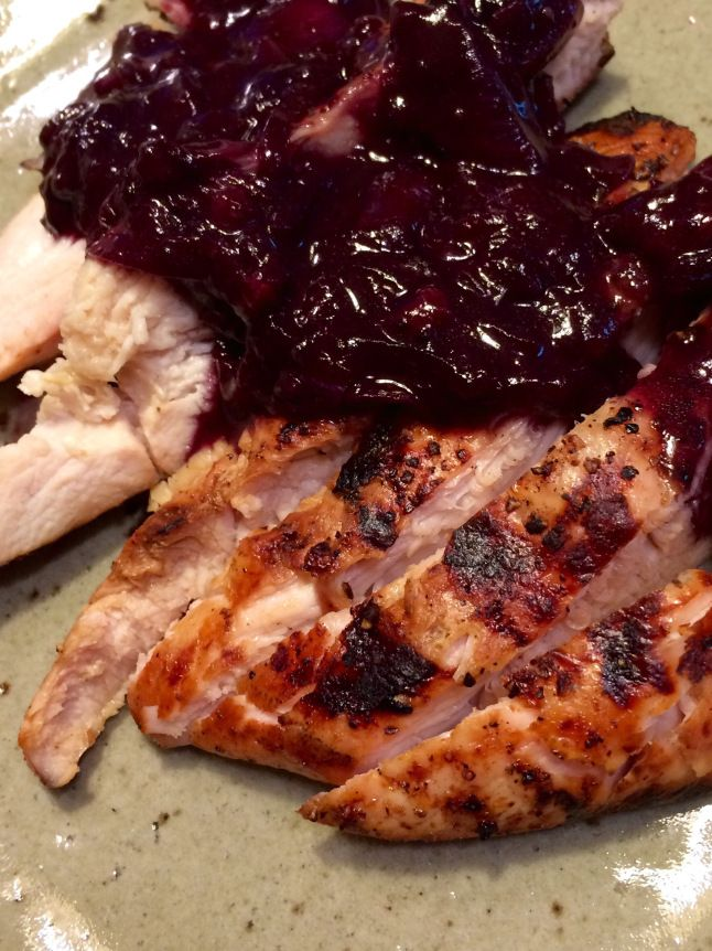 Marinated Grilled Turkey London Broil with Blueberry & Cabernet  Sauce…