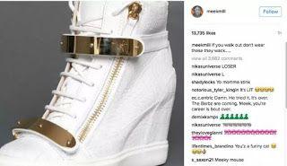 THE SNEAKER ADDICT: Meek Mill Clown's Nicki Minaj's Sneakers After Bre...