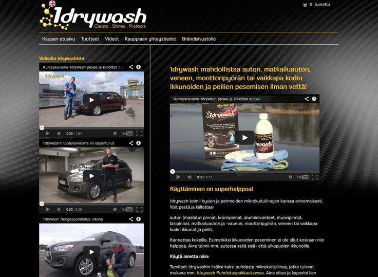 1drywash-verkkokaupassa myydään tuotteita, jotka mahdollistavat auton, matkailuauton, veneen, moottoripyörän tai vaikkapa kodin ikkunoiden ja peilien pesemisen ilman vettä.