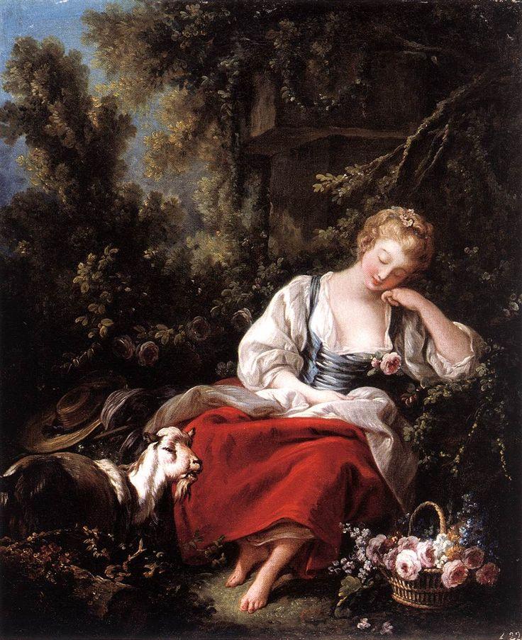 Dreaming Shepherdess by Francois Boucher, 1763.