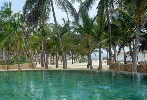 Le piscine del Lion in the Sun sono di acqua di mare e immerse in un giardino formato da piante autoctone.