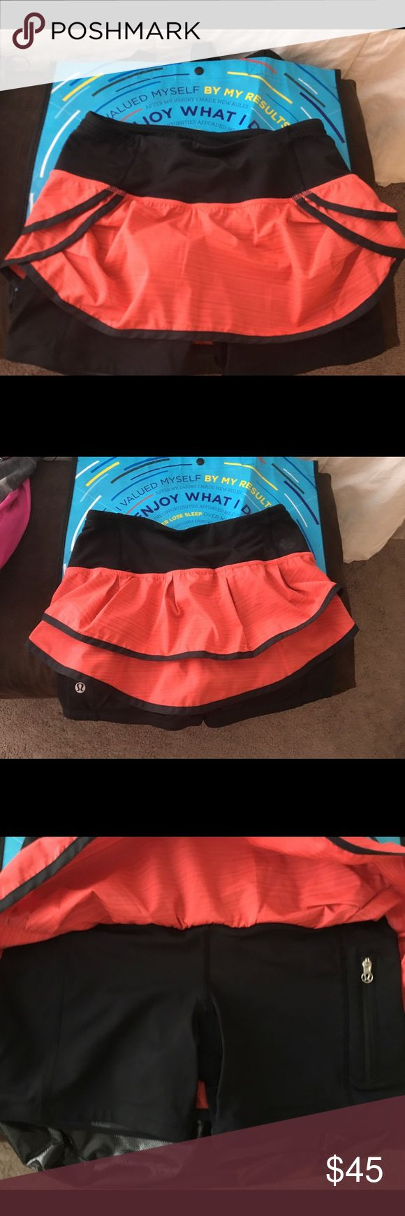 Lululemon running skirts In great condition running skirt no rips, tears or snags lululemon athletica Skirts Mini