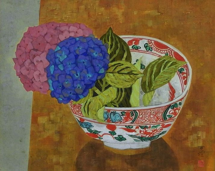 Ito Manyo 伊東万耀 (1921-1970), Still Life with Hydrangea.