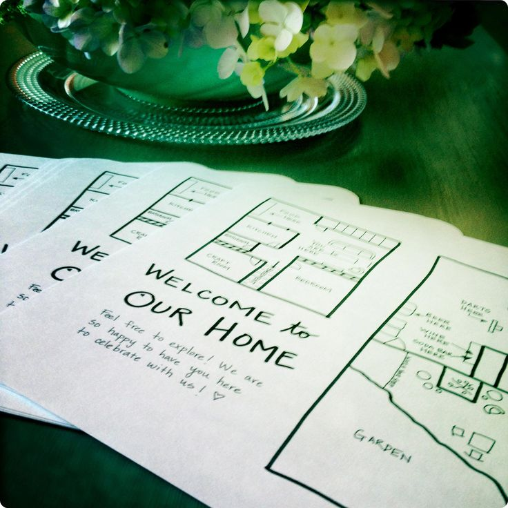 Housewarming maps, would be cute for all your guests' first time at your new house!
