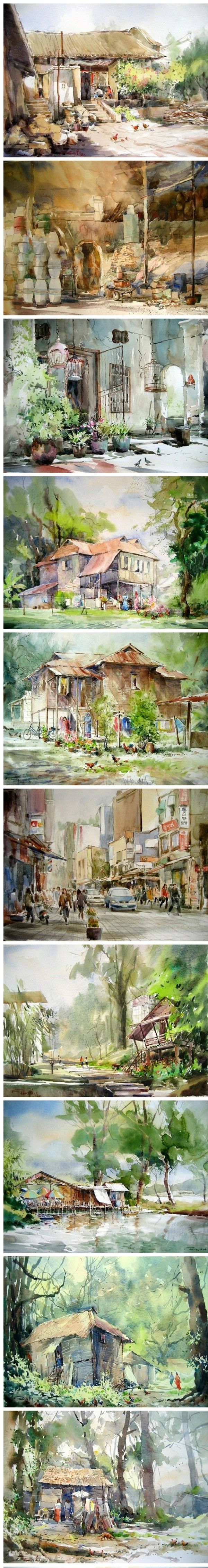 Phang Chew水彩 #watercolor jd