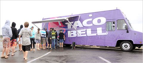 Taco Bell truck in Huntington Beach, Calif.