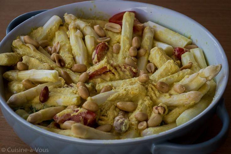 Stoofpotje van kip, asperges en kurkuma