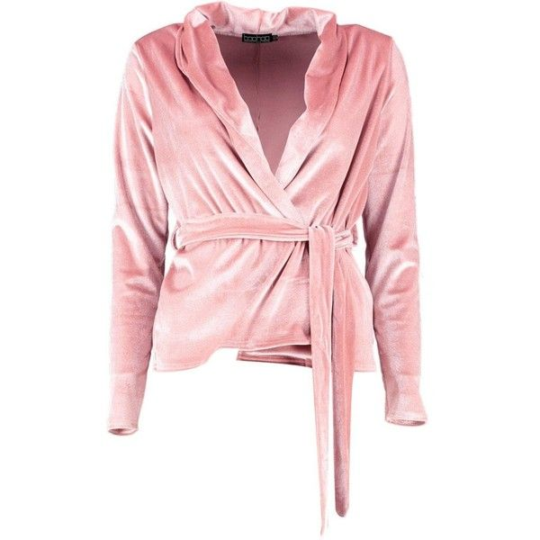 Boohoo Womens Holly Velvet Belted Blazer ($27) ❤ liked on Polyvore featuring outerwear, jackets, blazers, belted blazer, pink blazer, velvet blazer, pink blazer jacket and pink velvet jacket
