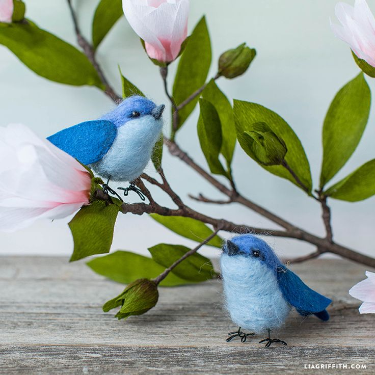 How to Make a Needle Felted Bluebird Needle felting diy