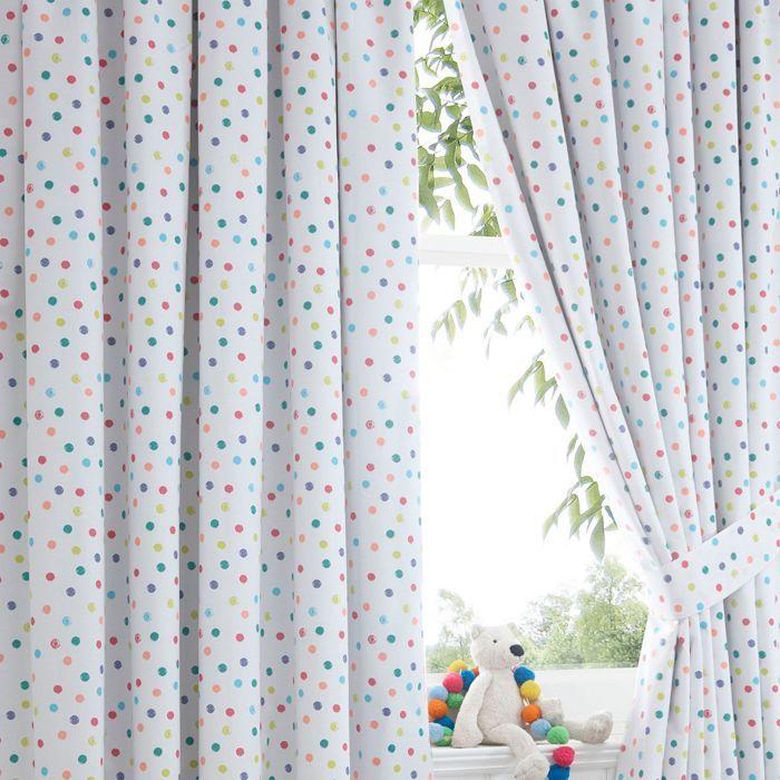 bluezoo Spotty curtains-   Debenhams