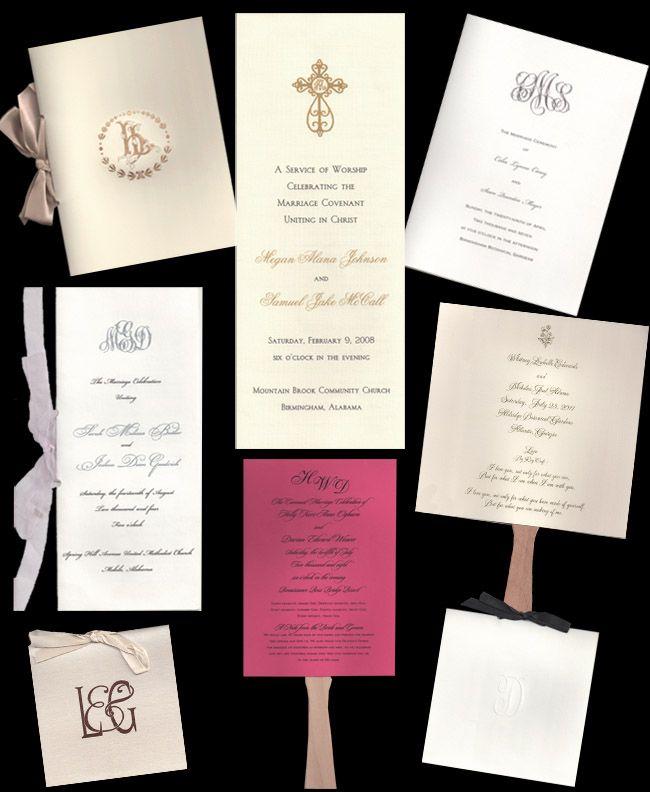 beautiful wedding programs  http://www.alansinvitations.com/PROGRAMS_c_108.html