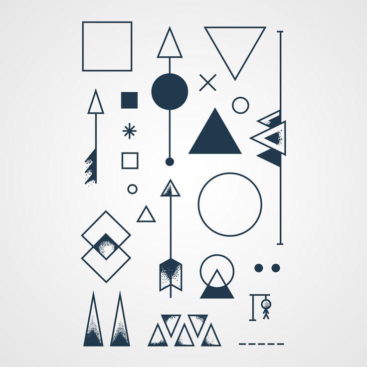 Angle Mort – Planche de tatouages temporaires géométriques carrément swag! http://www.bernardforever.fr/products/angle-mort