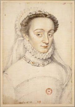 One of Catherine de Medicis spies, Charlotte de Beaune Semblançay c. 1551–1617: http://bjws.blogspot.com.au/2013/01/1500s-gossip-catherine-de-medici-one-of.html   IMAGE: A sketch of Charlotte de Beaune Semblançay.