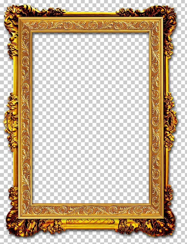 Gold Picture Frame PNG Images, Transparent Gold... - PNGitem