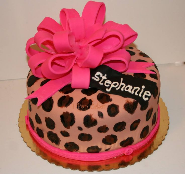 31 Best Leopard Birthday Cakes Images On Pinterest Leopard Cake