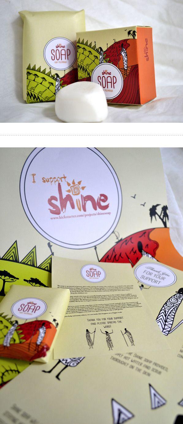Soap Packaging for SHINE by Ross Sneddon PD