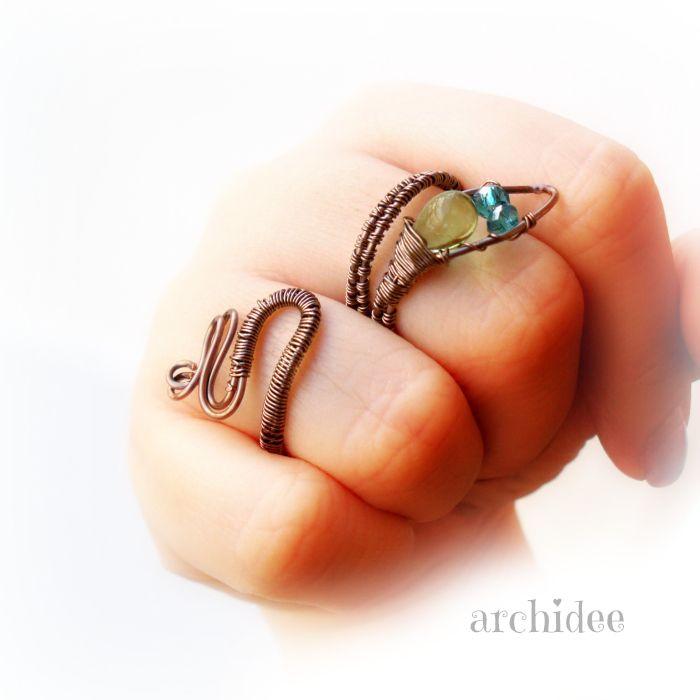 Tutorial Anello Tecnica Wire Wrapping | Serpente In questo video vi mostro come ho realizzato un anello a forma di...