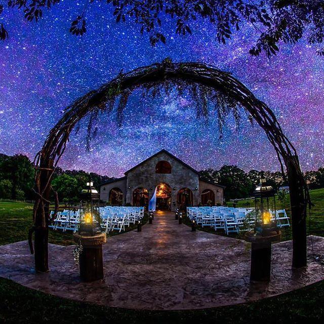 Magical Wedding Night Setting At Cason S Cove Near Bowling Green Kentucky Fantastic Shot Of