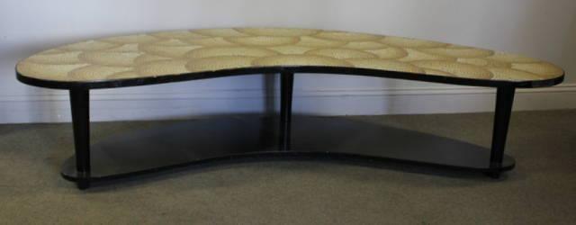 Midcentury Mosaic Tile Top Boomerang Table. | Bidsquare
