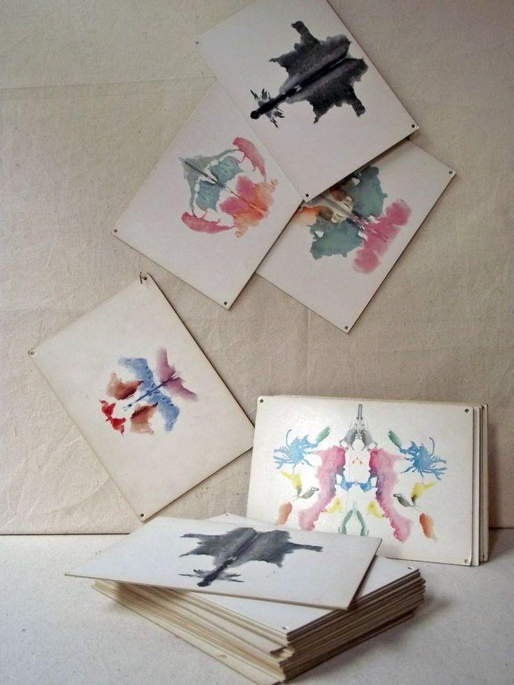 Leslie Oschmann - antique Rorschach Inkblot Test cards from 1948
