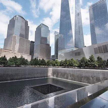never forget. Original photo @ flick - www.davidbaxendale.com. Experience the 9/11 memorial museum for free Thursday's 5-8 pm. Last admission is two hours prior to closing. #911memorial #oneworldobservatory #oneworldtradecenter #neverforget #worldtradecenter #manhattan #newyorkcity #nyc #newyork