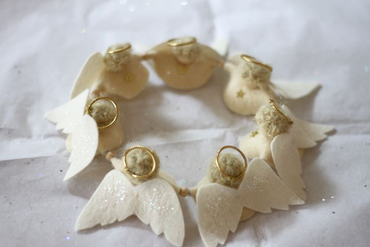 Christmas crafting: golden angels (The Little Gnomes Home)