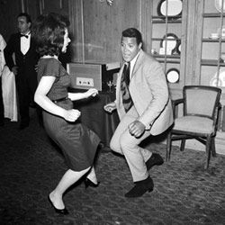 The Twist, though associated with the era, actually came late to the party: It originated in a Hank Ballard song in 1959, but didn't capture the spotlight until 1960, when music juggernaut Dick Clark released a recording of it by 17-year-old singer Chubby Checker.