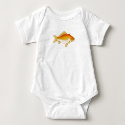 Common Goldfish Baby Bodysuit - gold gifts golden customize diy
