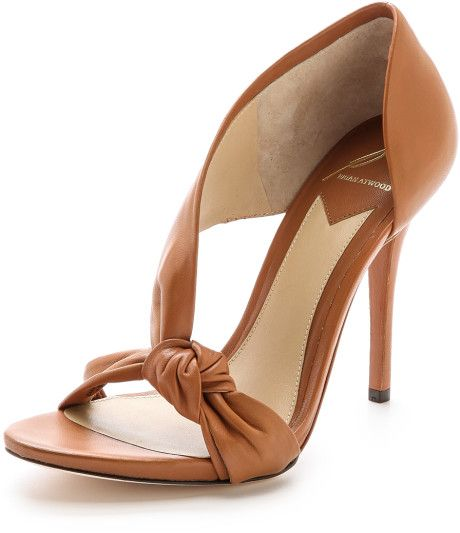 Love this: Chryssa Knotted Sandals Cafe @Lyst