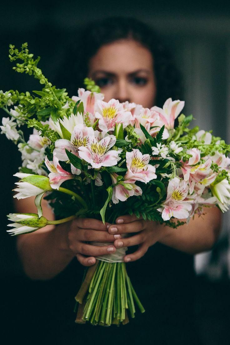 Brides bouquet made of astromelias