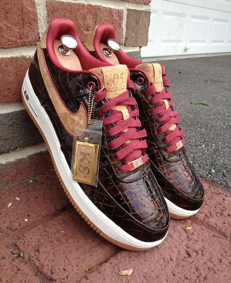 """The Nike LeBron 10 """"Cork"""" caught a lot of attention and received more than a handful of mixed reviews. Kal Seth has also taken on the application of cork onto a shoe in a way that you can only love. The Nike Air Force 1 Bespoke """"Scotch & Malbec"""" takes Kal's love of alcoholic beverages"""