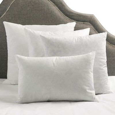 "White Solid Polyester Throw Pillow 22""x22"" - Surya, Variation Parent"