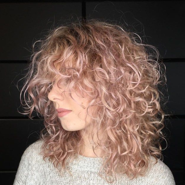 Medium Layered Hairstyle For Fine Curly Hair Curly Hair