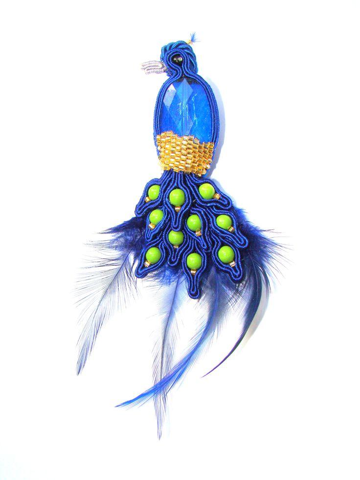 Moja broszka pawi król :)