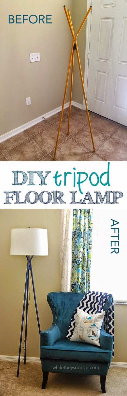 17 best ideas about diy floor lamp on pinterest copper for Homemade floor lamp ideas