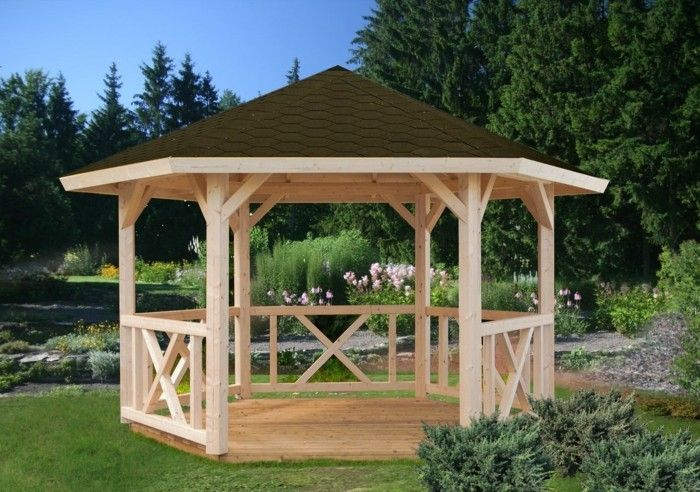Garden Pavilion Made Of Wood For Every Garden Backyard Pavilion