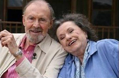 Nels!& Harriet Oleson as an old couple!