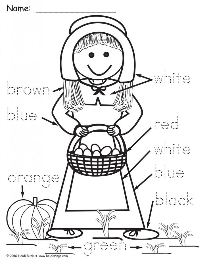 thanksgiving coloring pages for kindergarten - photo#33