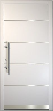 puerta de aluminio style ya vista exterior