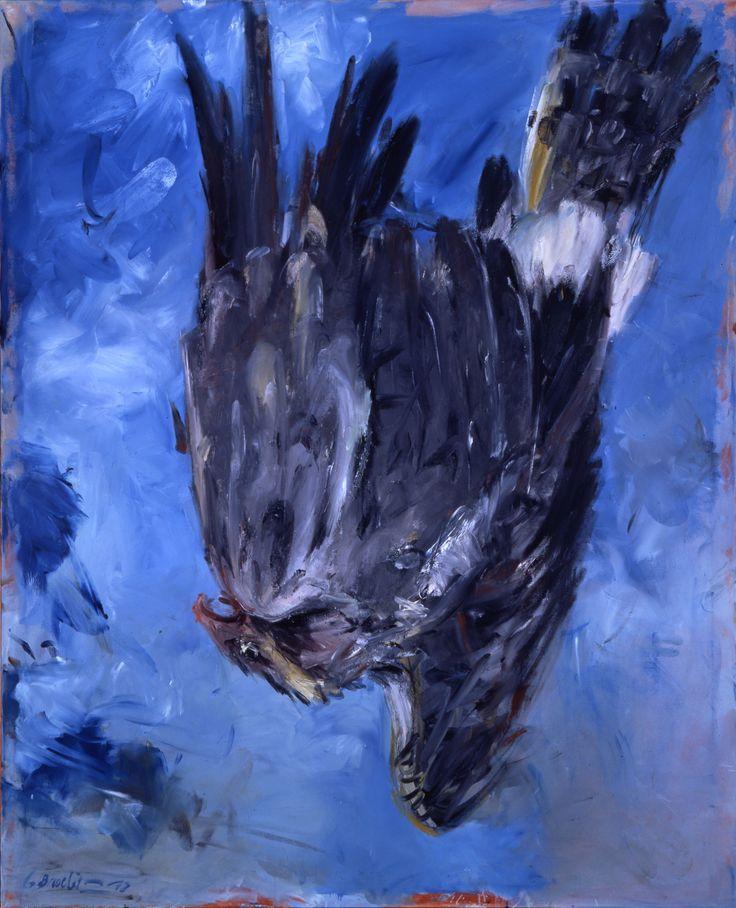 Georg Baselitz Fingermalerei III - Adler 1972 160 x 130 cm oil on canvas
