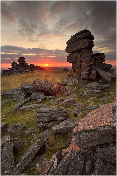 Staple Tor - part of the Dartmoor National Park in the Southwest of England, United Kingdom.