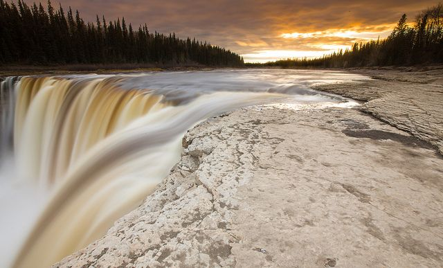 The third highest waterfalls in the beautiful Northwest Territories, Canada - Alexandra Falls.