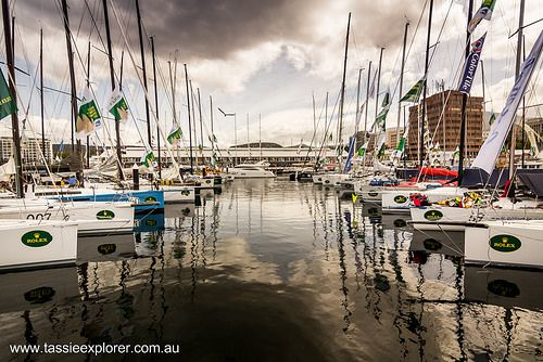 New Years eve in Hobart Australia. At the finish line of the Sydney to Hobart yacht race, and the start of the Taste of Tasmania. Best time of year! www.tassieexplorer.com.au