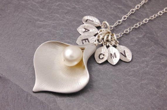 Family Necklace grandma necklace nana necklace calla by MegusAttic