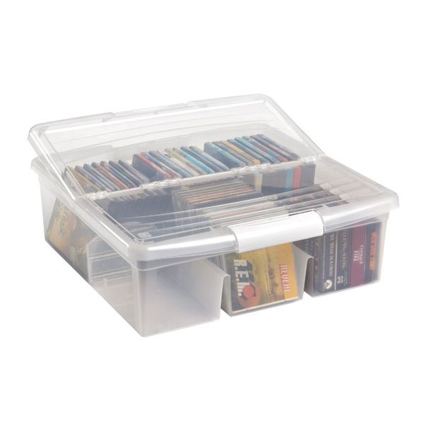 Best 25 cd storage box ideas only on pinterest dvd storage cd storage case and cd holder case - Dvd case holder shelf ...
