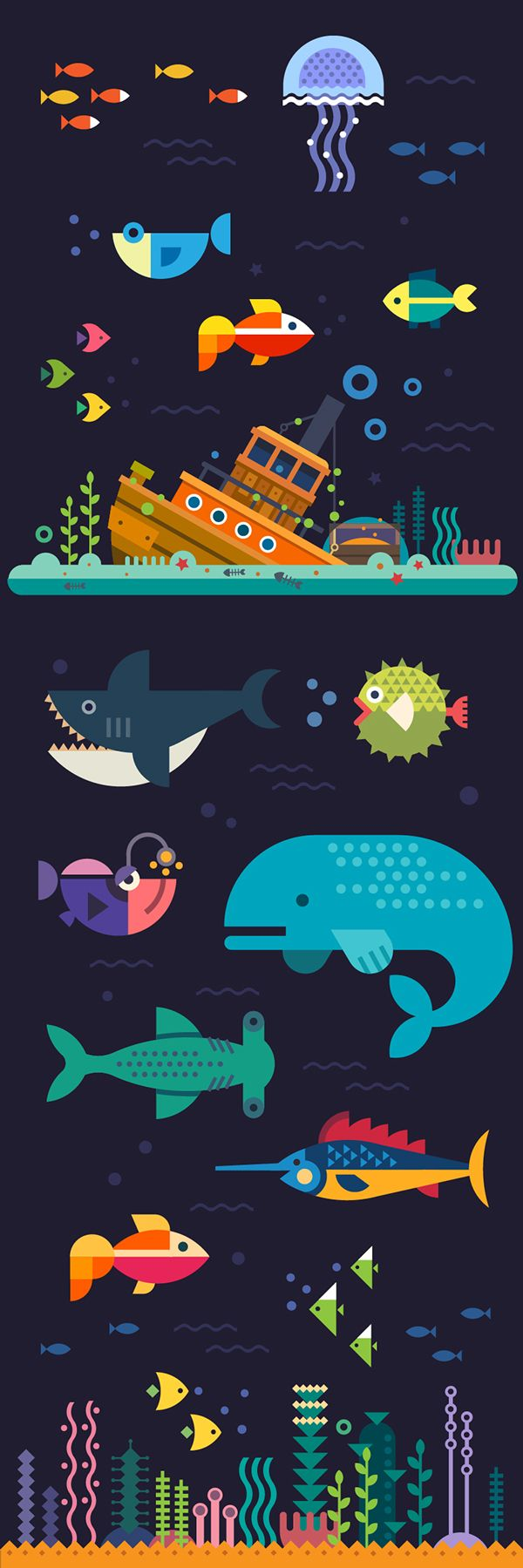 Underwater world on Behance