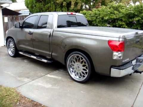 "2007 TOYOTA TUNDRA LOWERED ON 26"" FORGIATO GRANO WHEELS PIRELLI TIRES 26s"